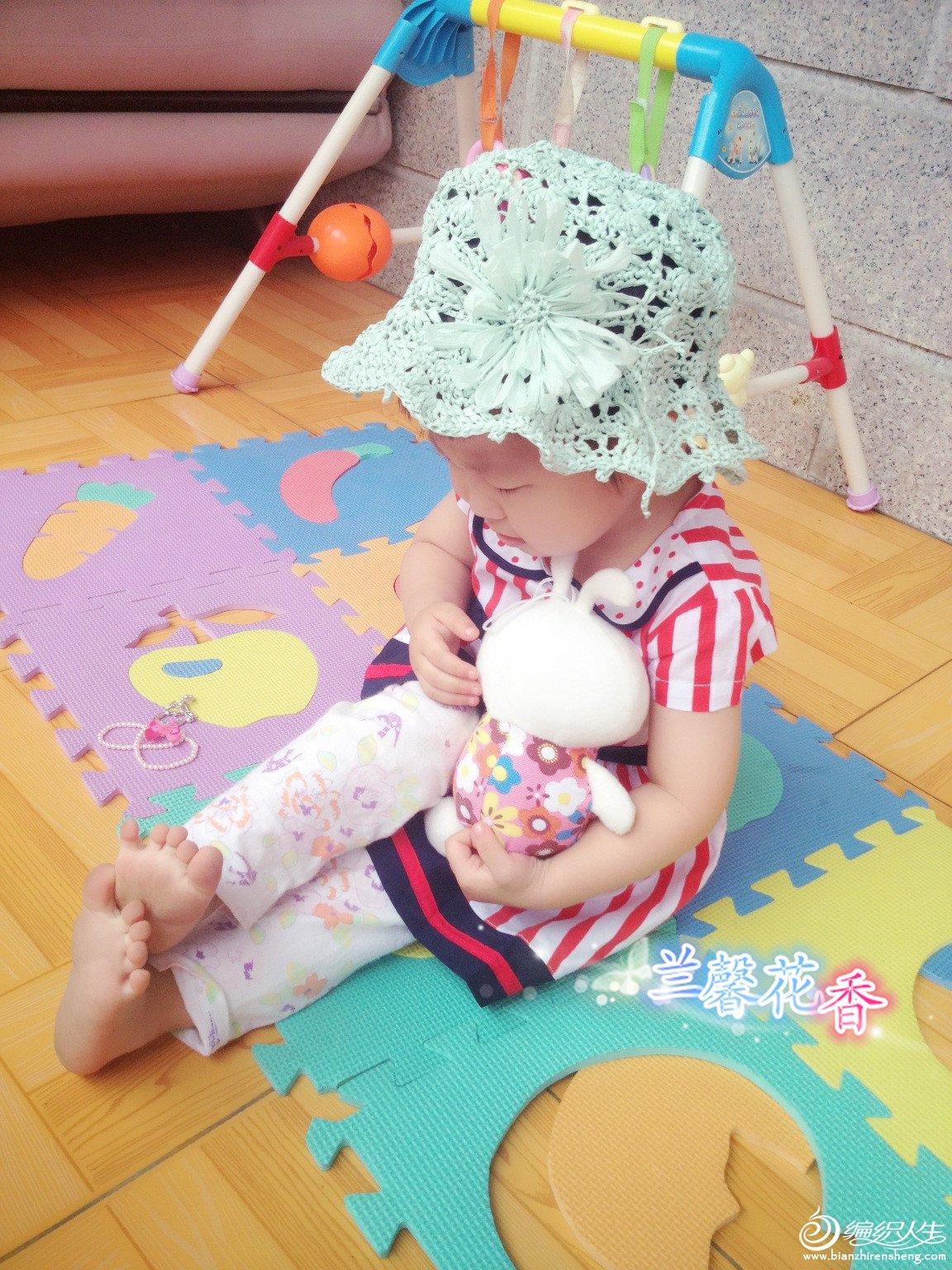 儿童棉草小花帽