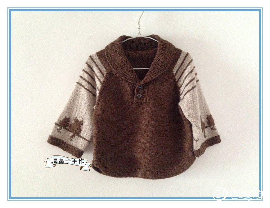 儿童青果领毛衣