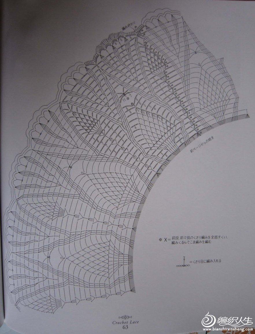 3号蕾丝钩针编织菠萝花型桌布