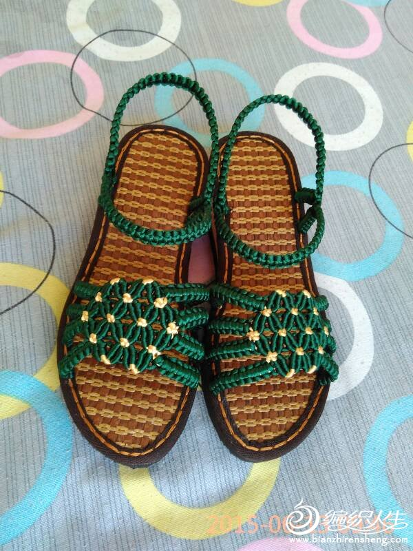 手工编织中国结凉鞋,拖鞋