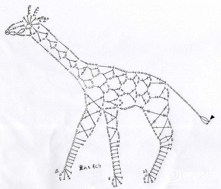 钩针长颈鹿花样