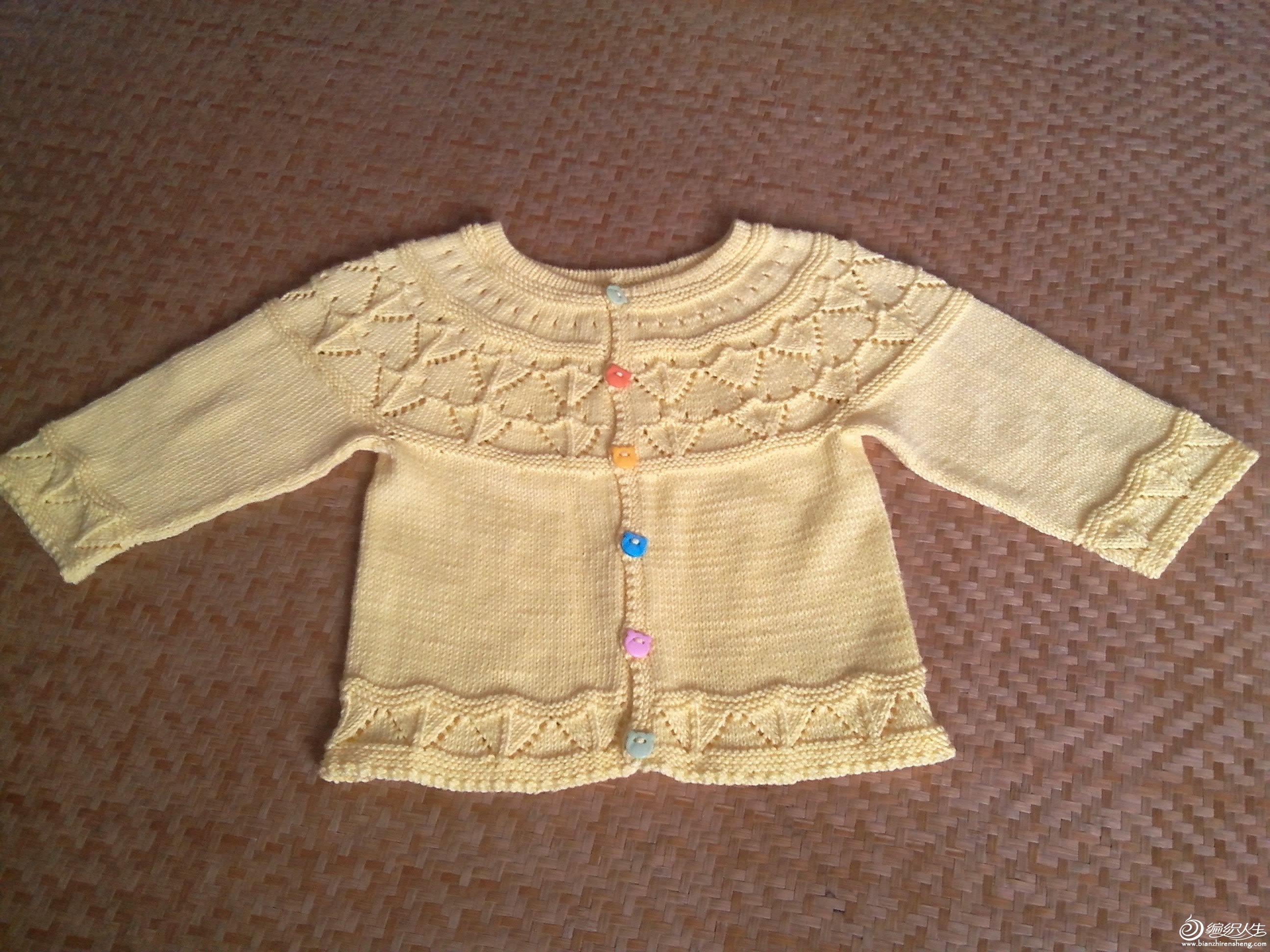 编织交流 69 儿童毛衣(棒针) 69 从上往下织的宝宝圆肩衣    线