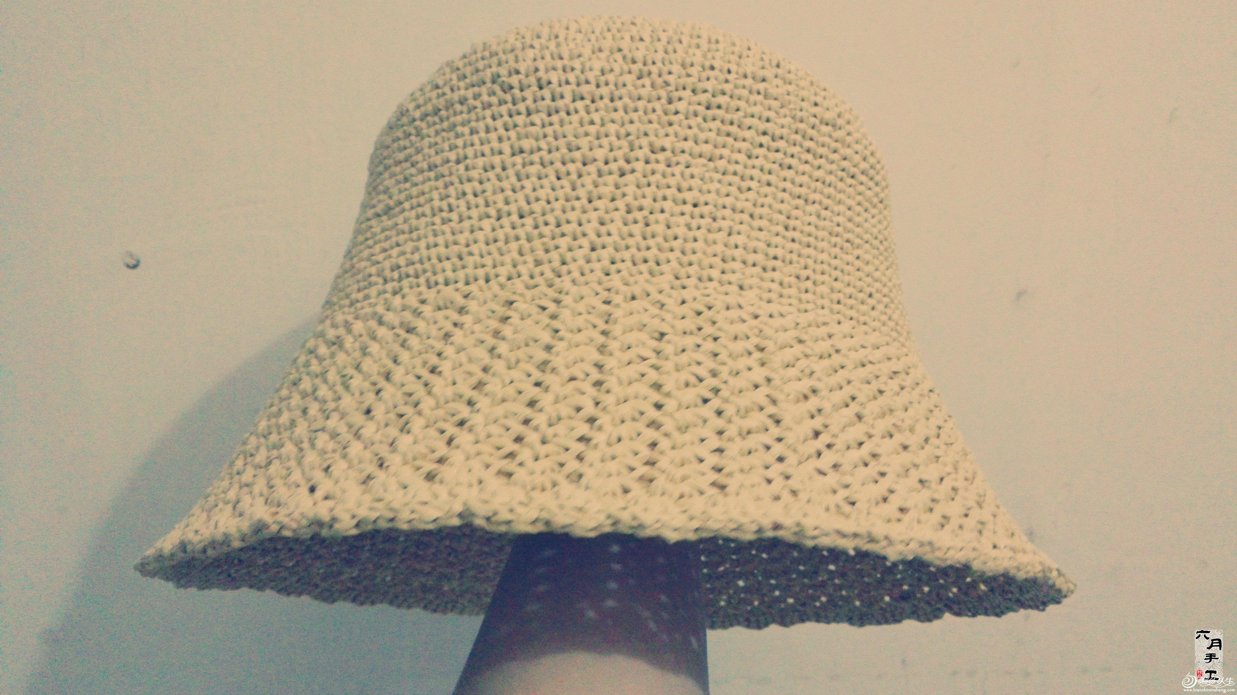 新手也能学会的简单帽子 钩针棉草拉菲遮阳帽