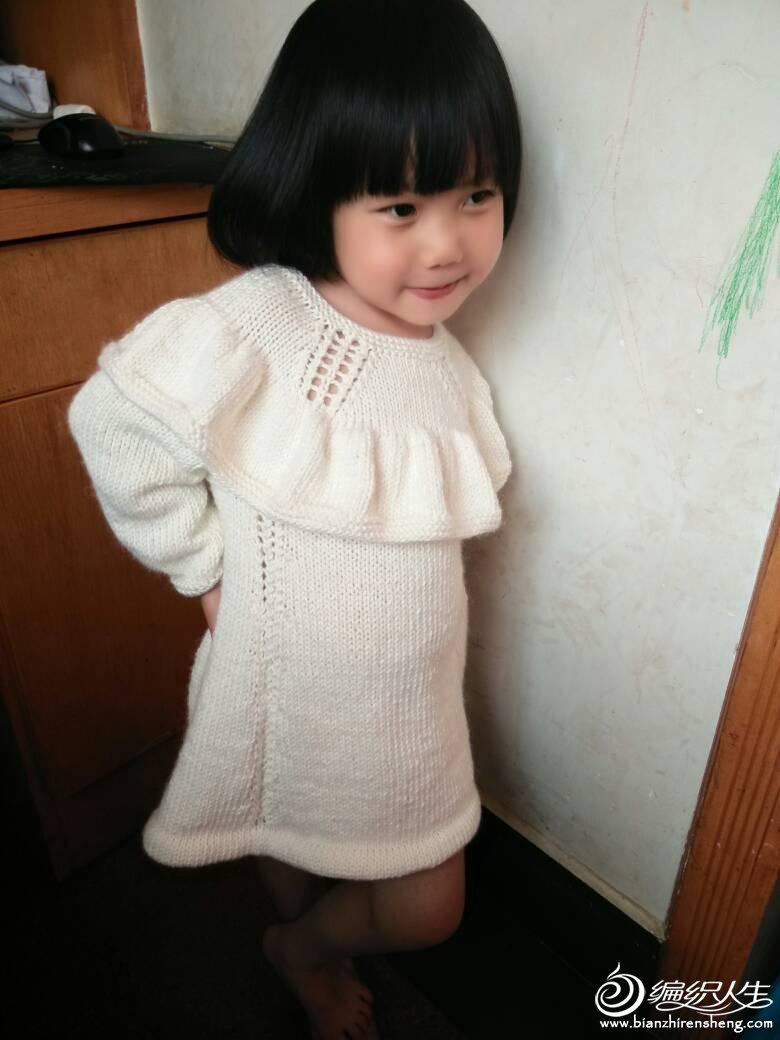 女童荷叶边公主裙