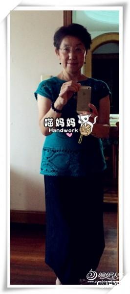 [套头衫] 喵妈手工——连年有余——钩织结合连袖衫 - yn595959 - yn595959 彦妮