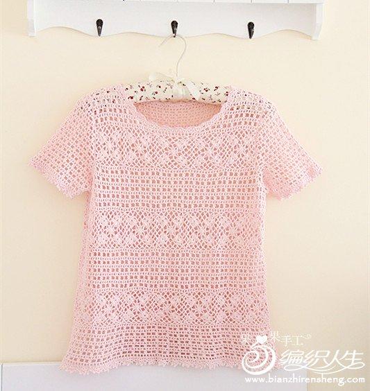 世界编织钩针蕾丝罩衫