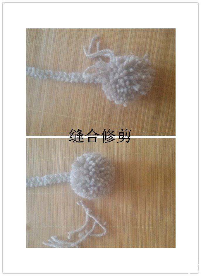 宝宝护耳帽编织视频_棒针铜钱花护耳帽及护膝、手套三件套 -编织教程-编织人生
