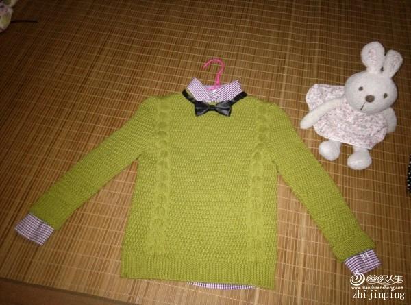 仿淘宝minipeace童装 男童 儿童休闲圆领纯色撞色领结套头衫 - ysp1966 - 快乐心情的博客
