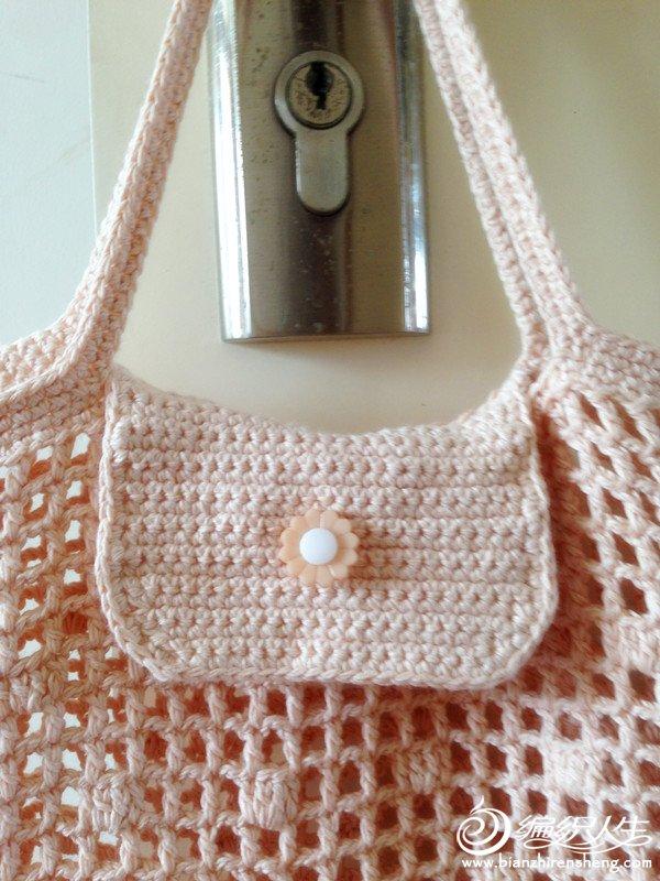 可折叠的手提包 钩针编织作品秀