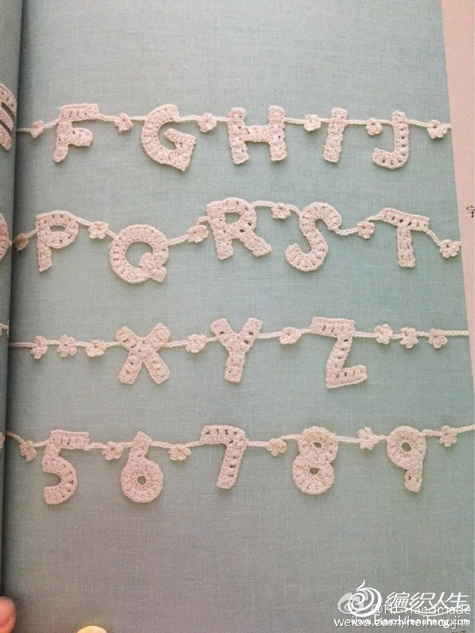 毛线编织字母装饰 零线创意编织