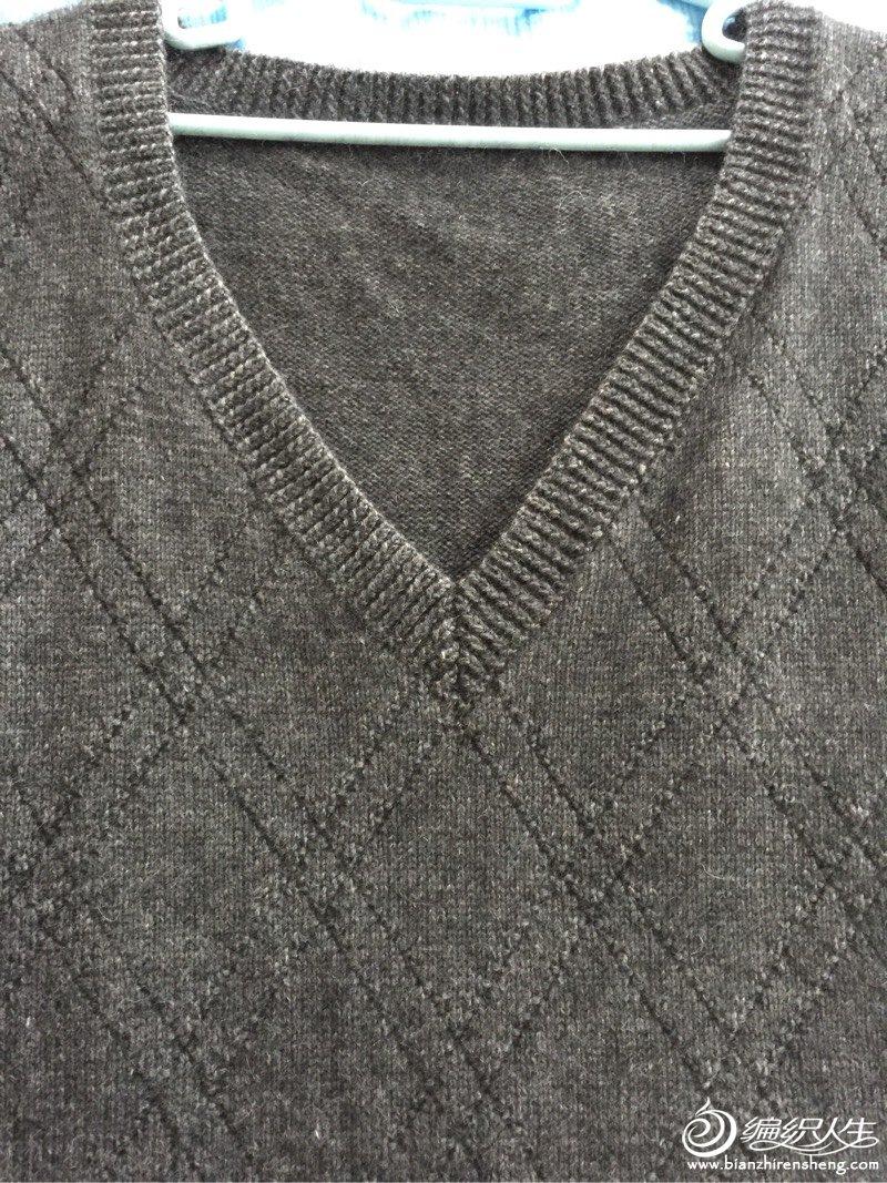 [男式毛衣] 给老公织的背心~ 上图解了~~~ - yn595959 - yn595959 彦妮