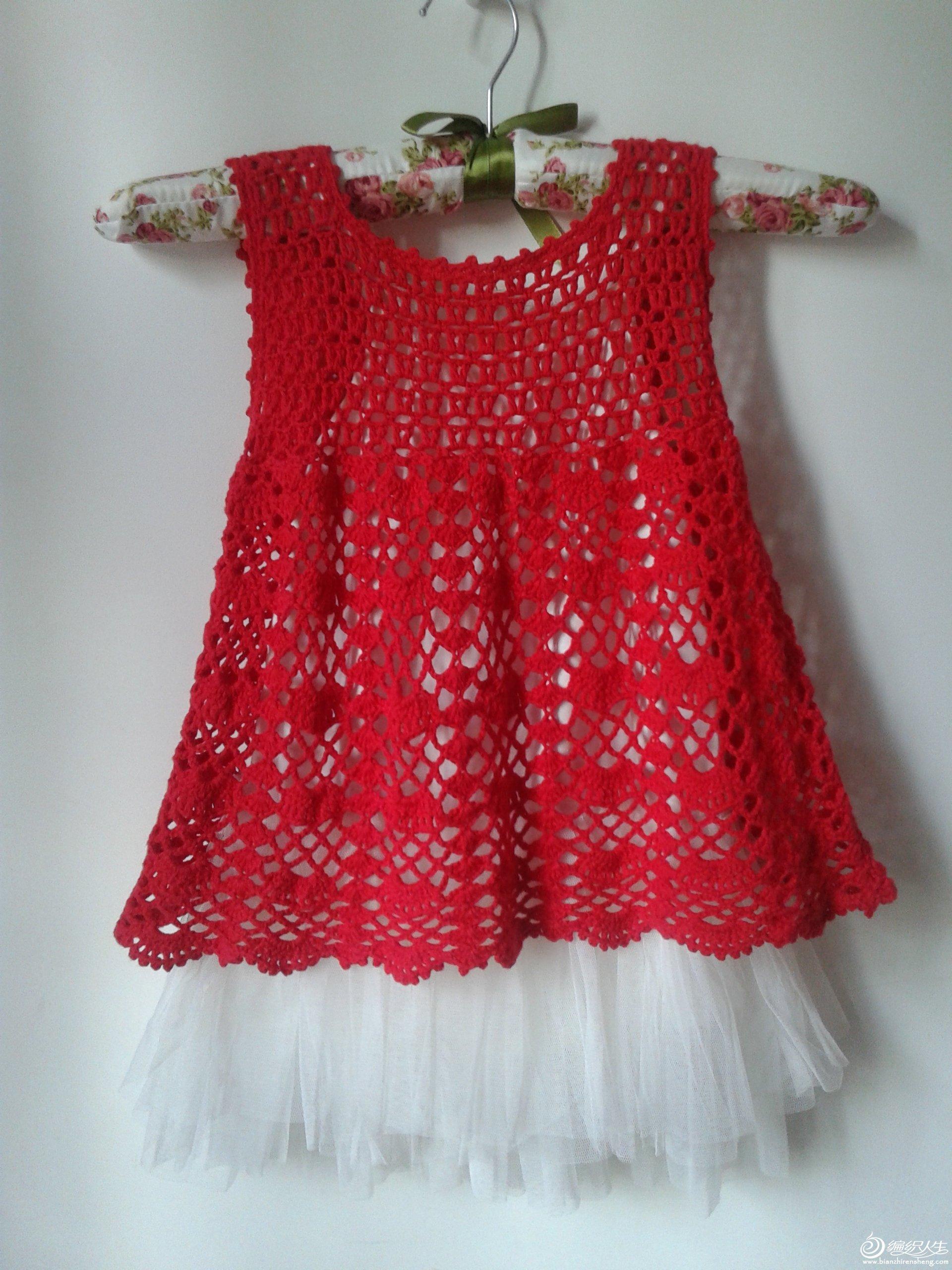 1522-小红扇-小女孩背心裙 !_编织人生论坛