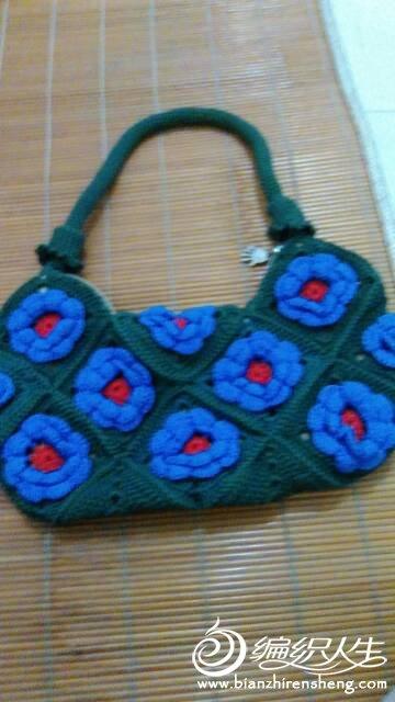 纯手工编织包包毛线钩包女式手提包斜挎包