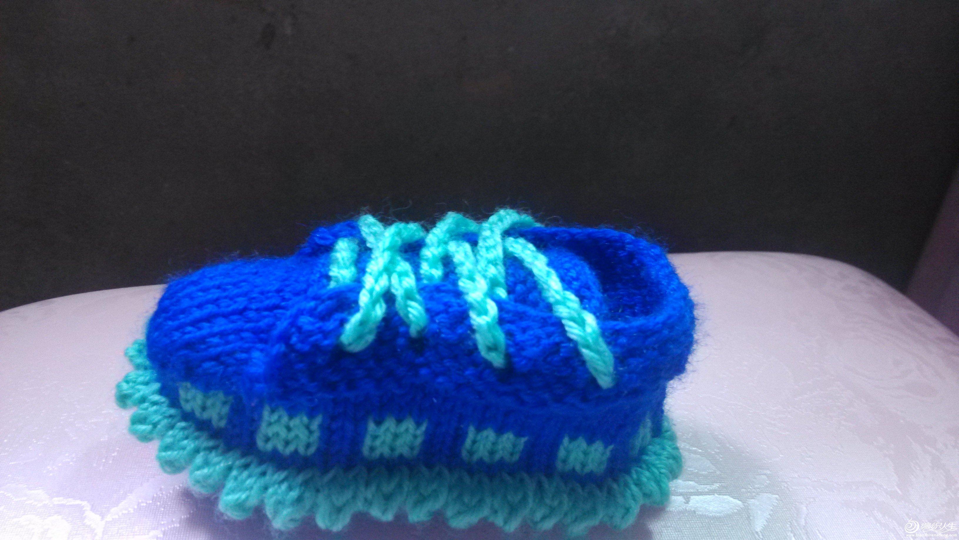 棒针编织的宝宝鞋