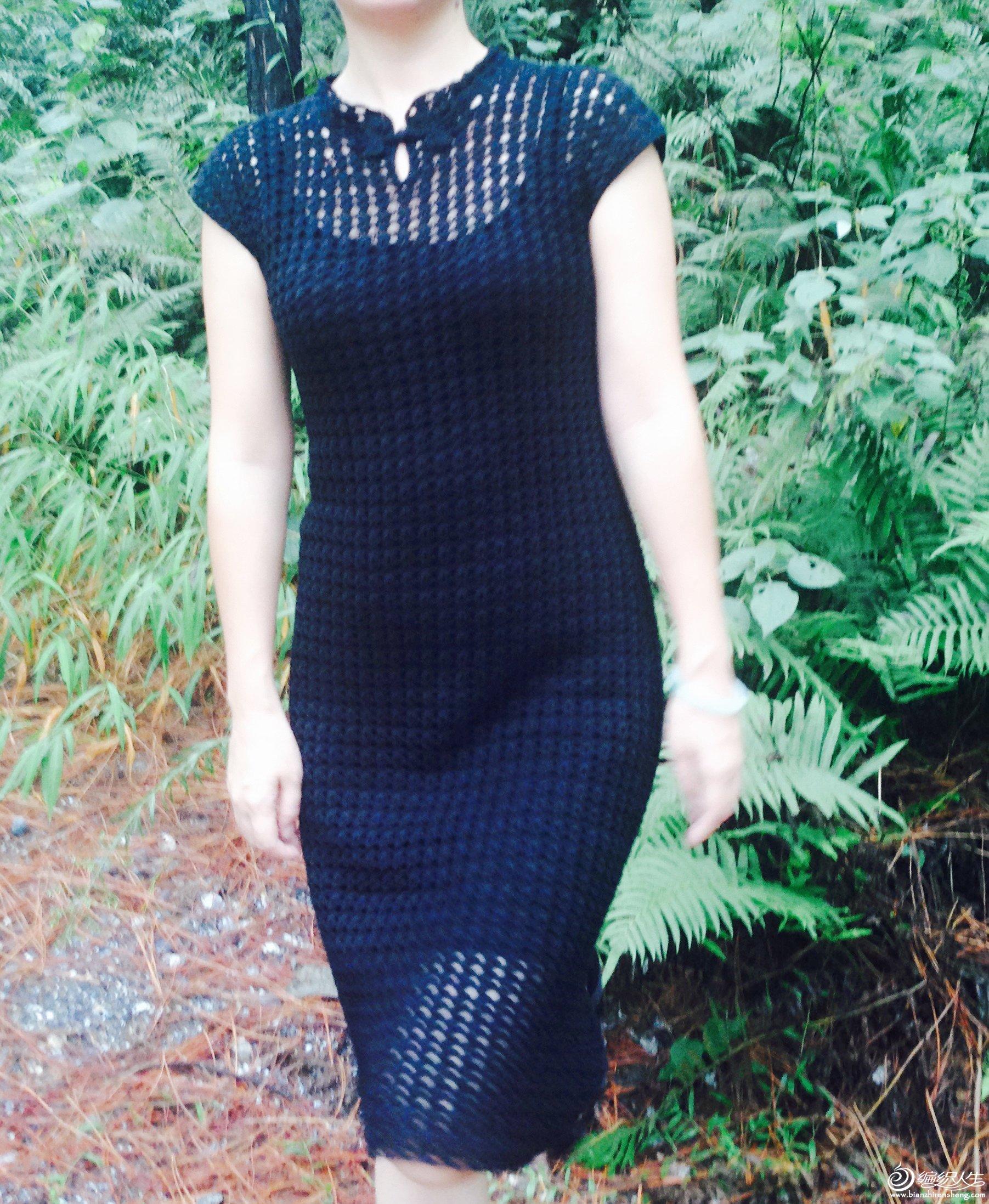 女士钩针长裙