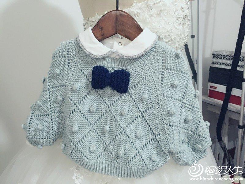 宝宝棒针蝙蝠袖毛衣