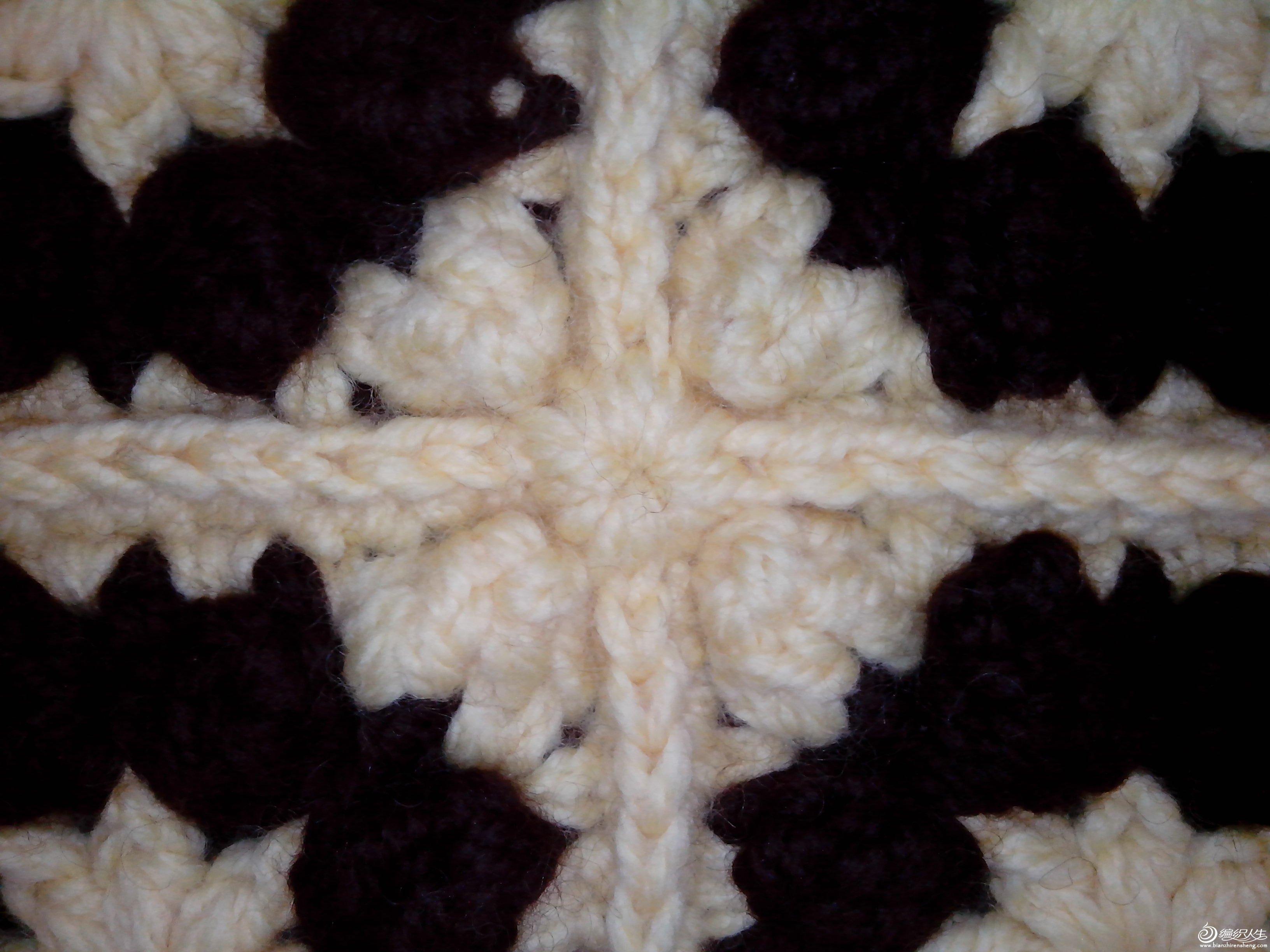 沁心 钩坐垫 暖和 大气 高雅,简单 易钩 耗时短 有详细图解 钩针编织作品秀