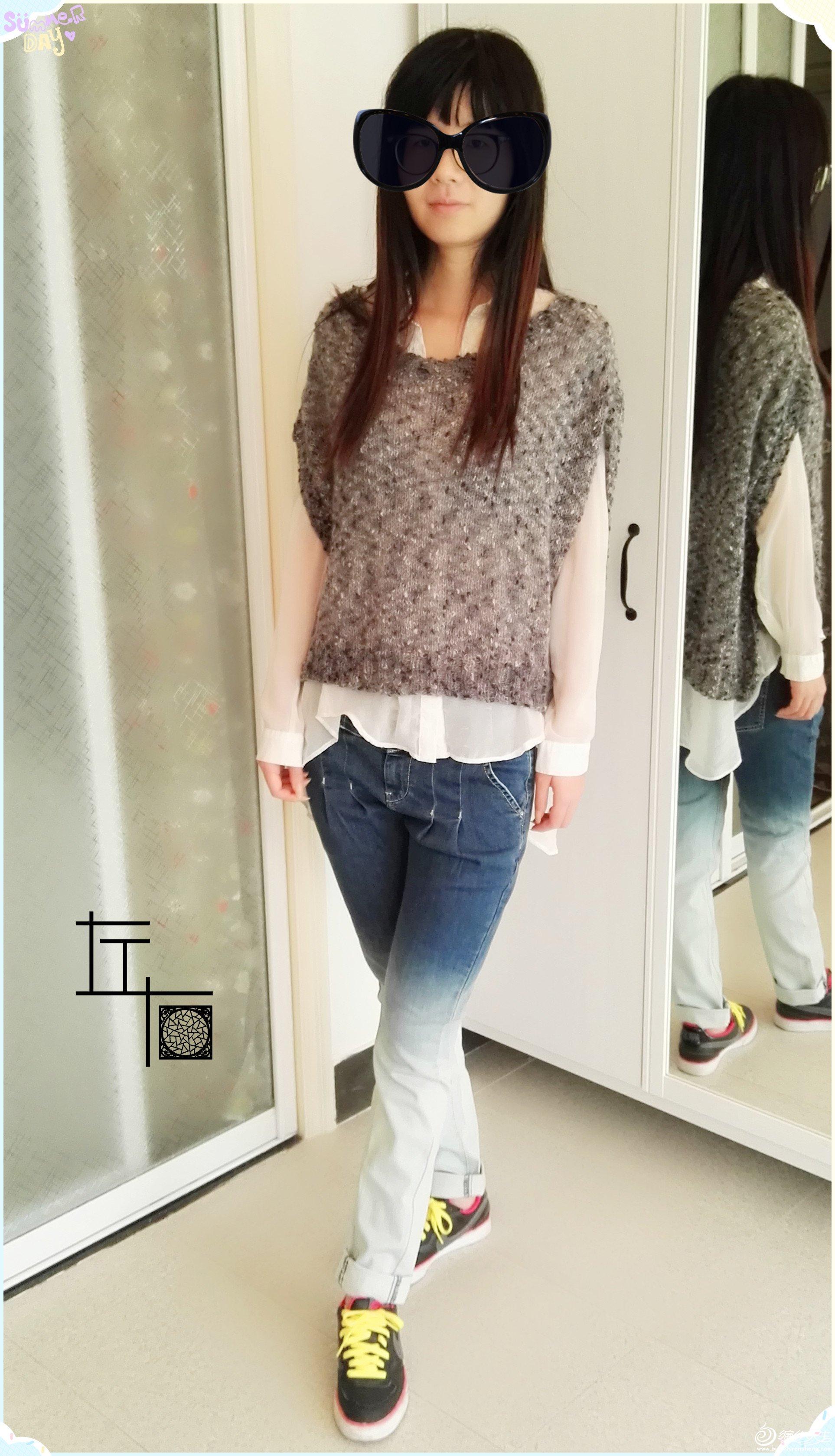 时尚家用编织机机织罩衫