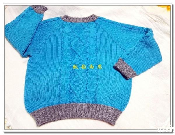 从上往下织开衫儿童毛衣