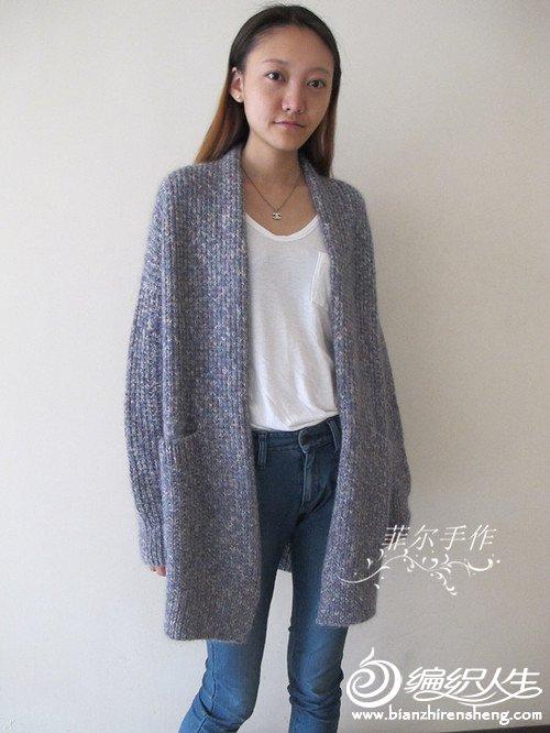 宽松慵懒随性风格棒针毛衣