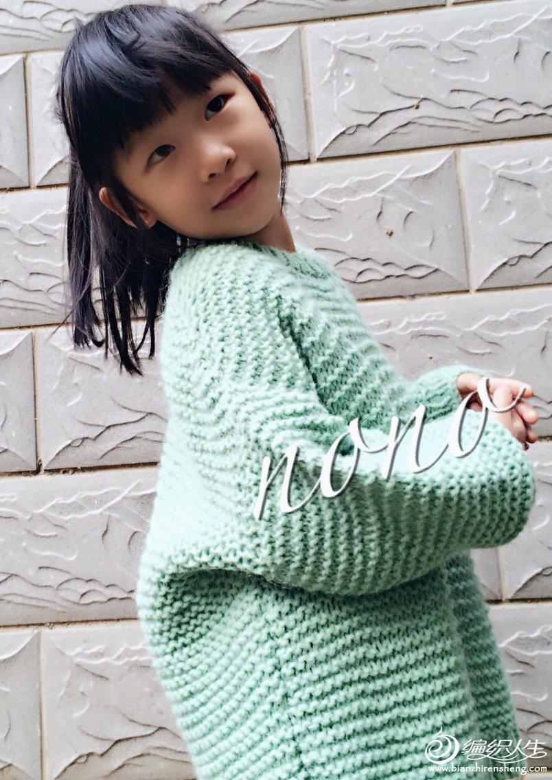 女孩棒针宽松休闲毛衣