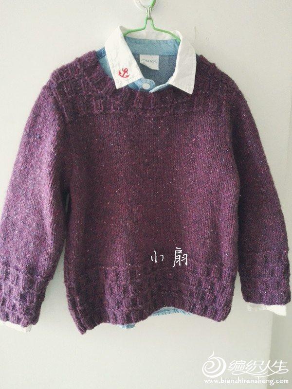 男童粗针织圆领毛衣