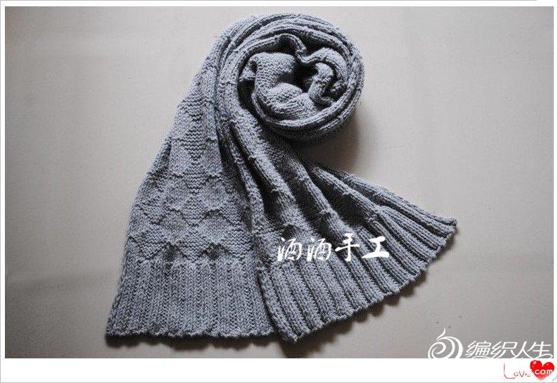 自由 线材:九色利奥专用围巾线. 工具:顺林6.0环针 成品尺寸:长2.