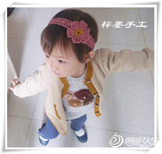 宝宝钩花发带