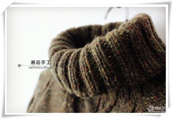 [云点] 邂逅手工——暖心~~~云点森林绿翻领套衫 - yn595959 - yn595959 彦妮