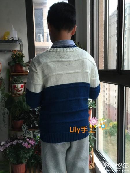[男式毛衣] 【Lily手工】--初日--儿子的撞色毛衣 - yn595959 - yn595959 彦妮