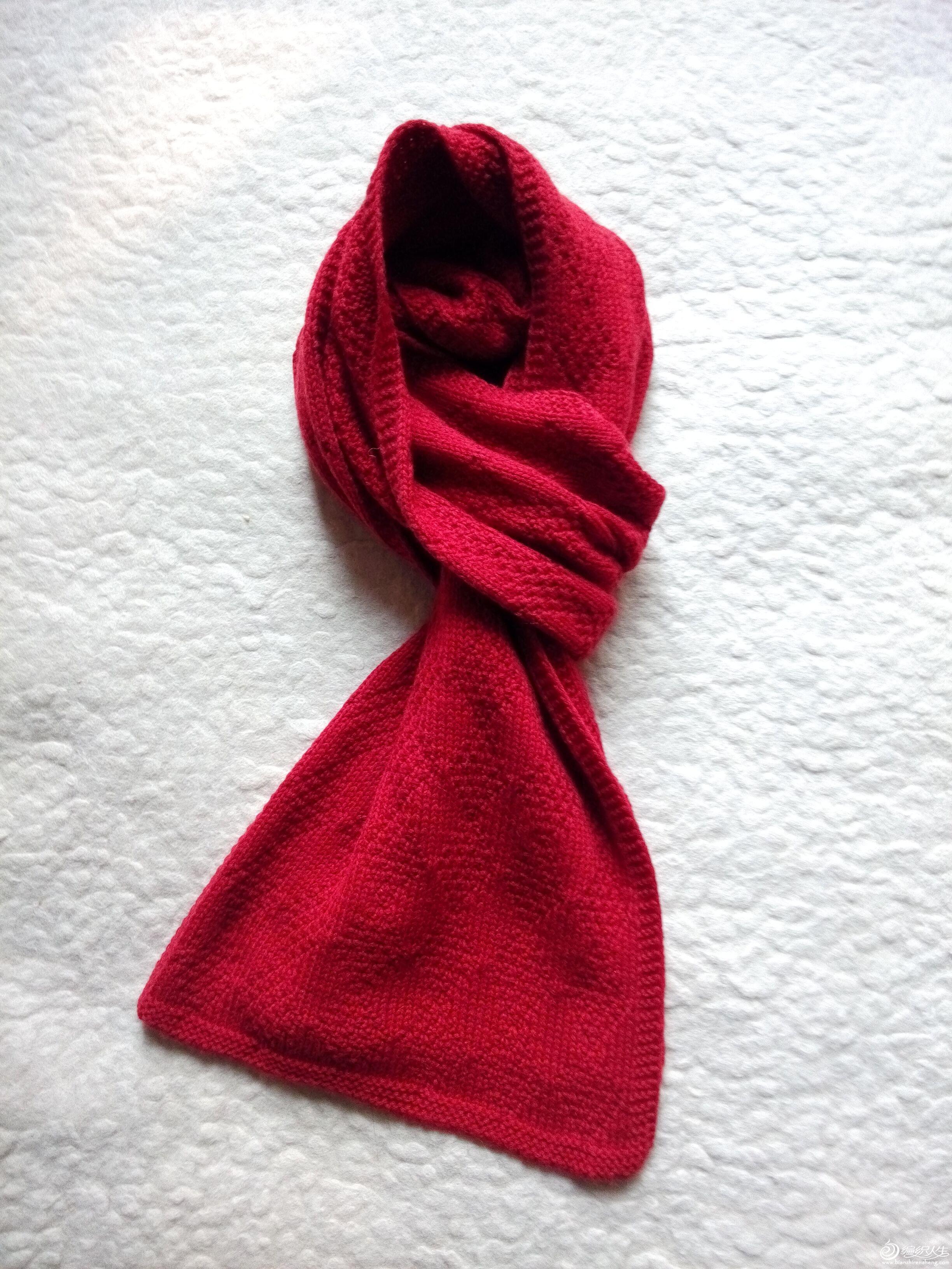 经典男士围巾棒针菱格围巾