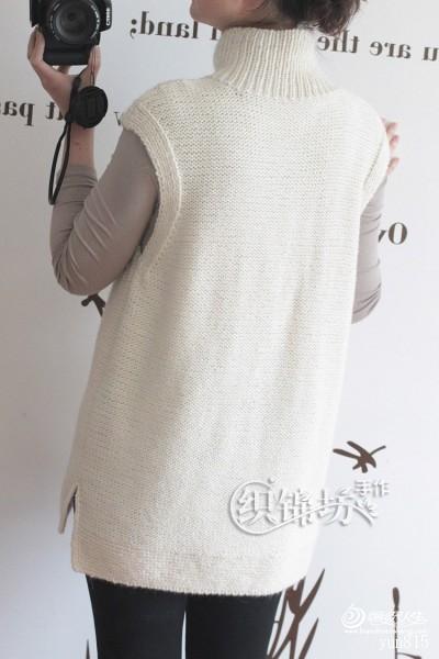 [套头衫] 【织锦坊手作】——轻秋。素白 韩版高领宽松马甲 - yn595959 - yn595959 彦妮