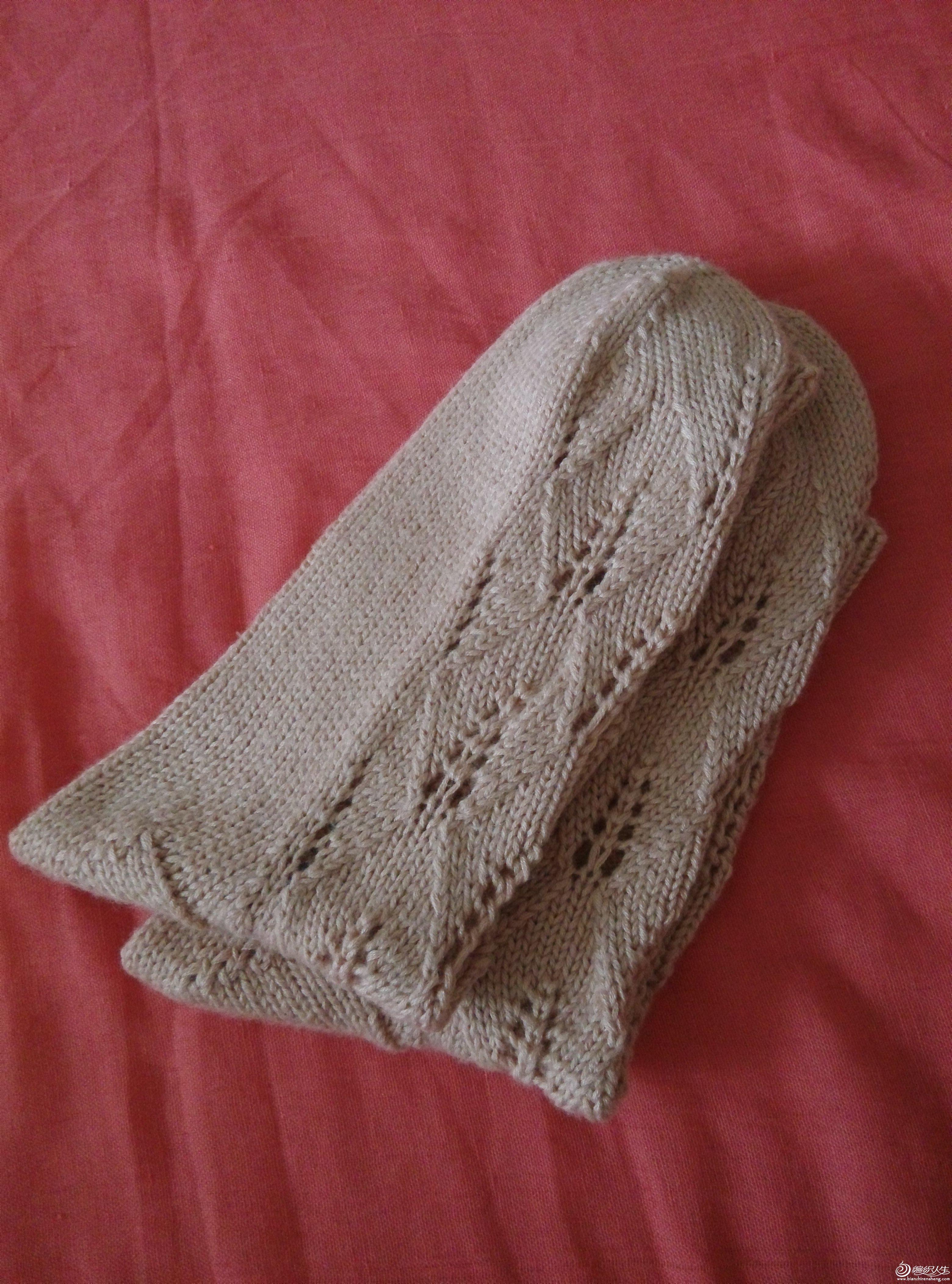 手工编织毛线袜