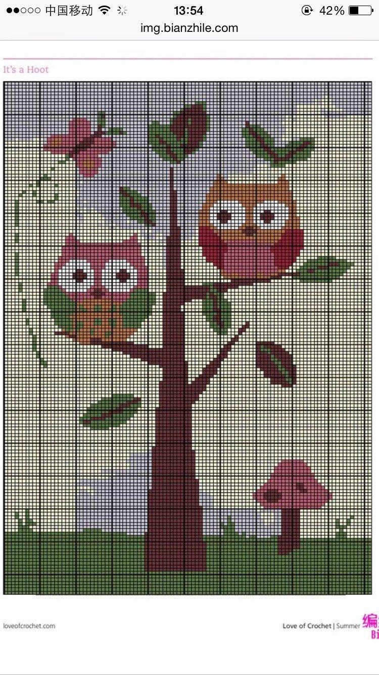 [童毯] 儿童毯图解 - 玉兰花 - 玉兰花的博客
