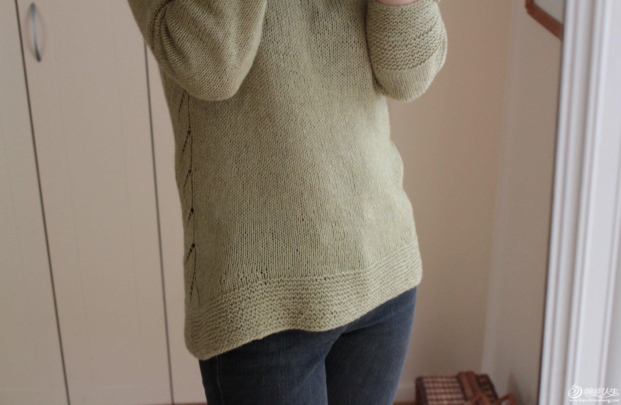 不需要缝合的毛衣织法