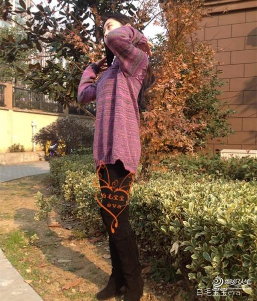 [套头衫] 【暗香冬暖】【白毛宝宝】梓萱---花式段染羊毛休闲衫裙 - yn595959 - yn595959 彦妮