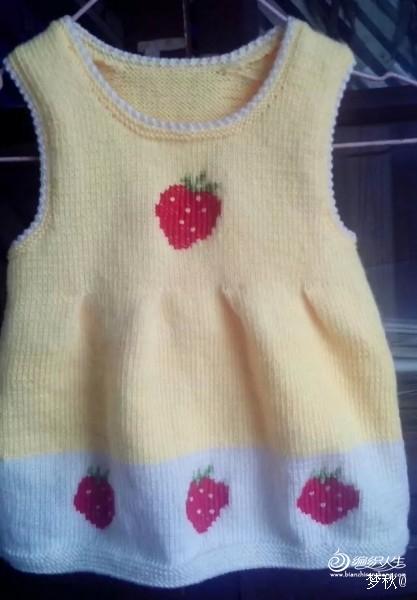 [50~80cm婴幼儿毛衣] 宝宝衣--草莓背心裙 - yn595959 - yn595959 彦妮