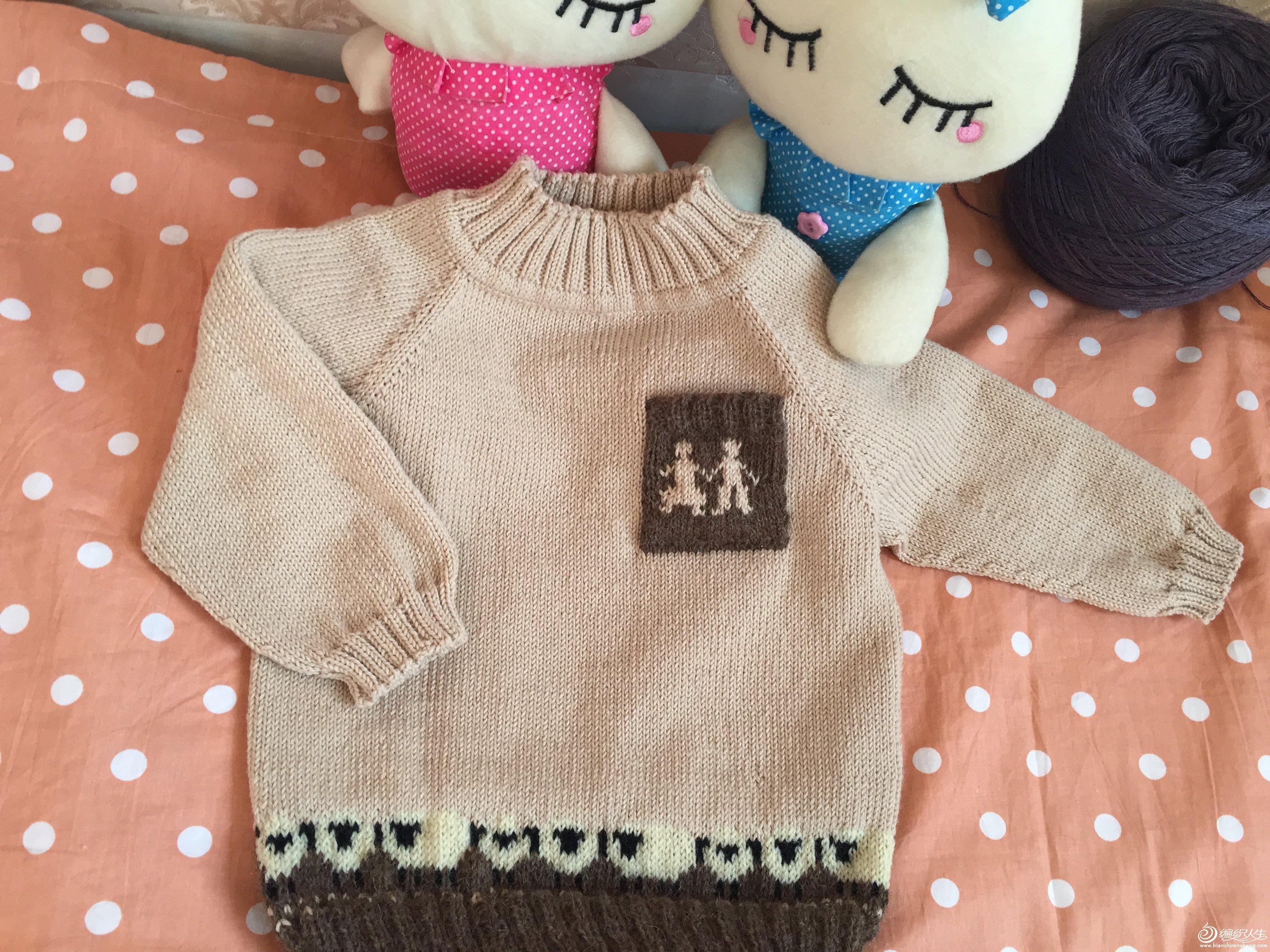 幼儿棒针萌羊毛衣