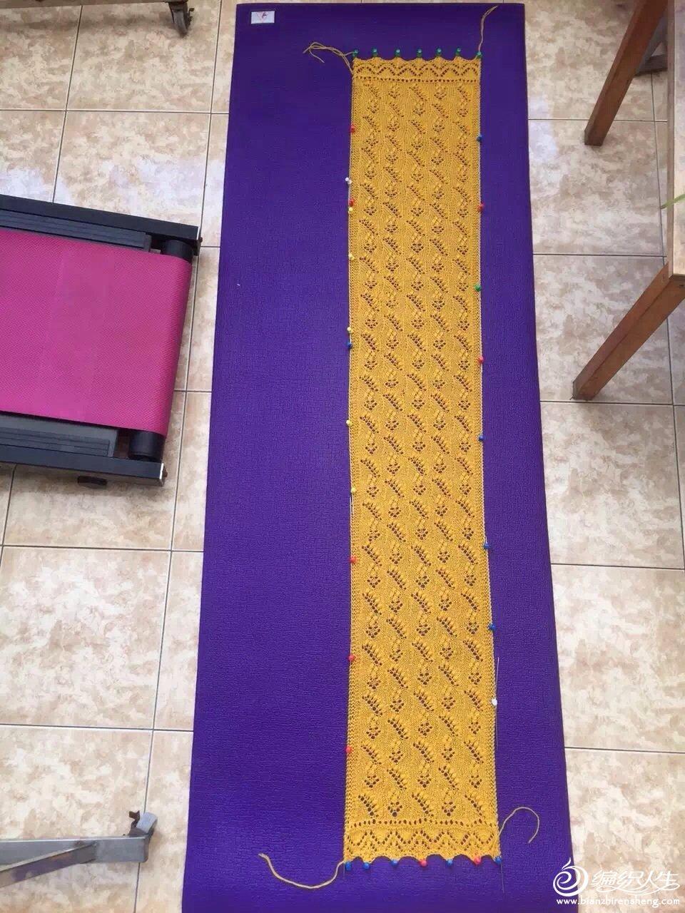 蕾丝围巾定型