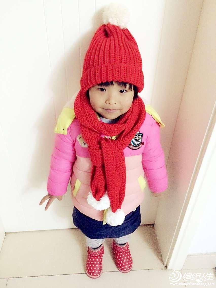 红花继木 经典编织儿童钩针帽子围巾套装 -编织教程