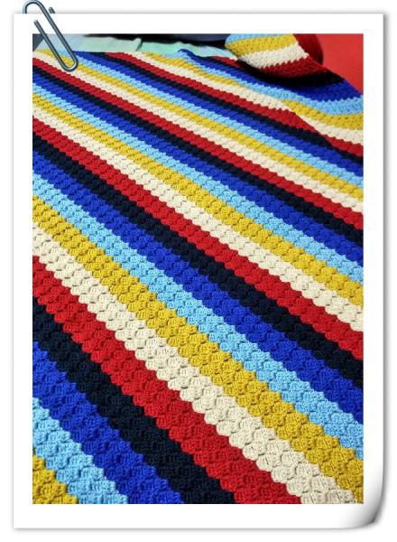 [童毯] 钩针彩色婴儿毯 - 玉兰花 - 玉兰花的博客