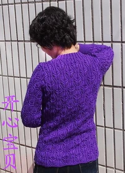 [120cm以上大童毛衣] 开心宝贝--鲜紫开衫74(真人秀+教程+图解) - yn595959 - yn595959 彦妮