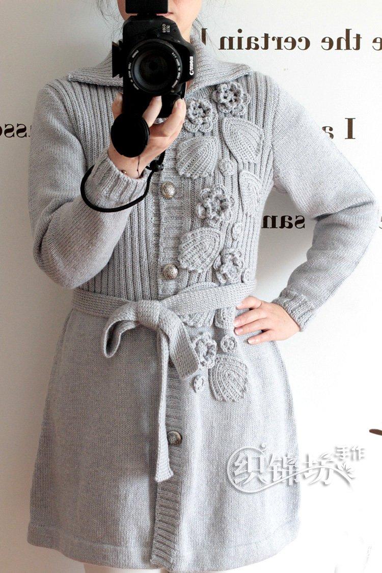 钩织结合大衣