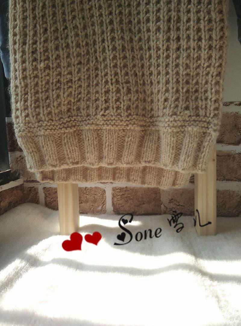 简洁时尚儿童羊驼棒针背心-编织教程-编织人生
