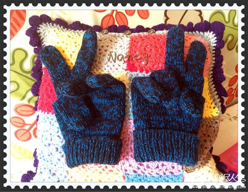 男士羊绒五指手套