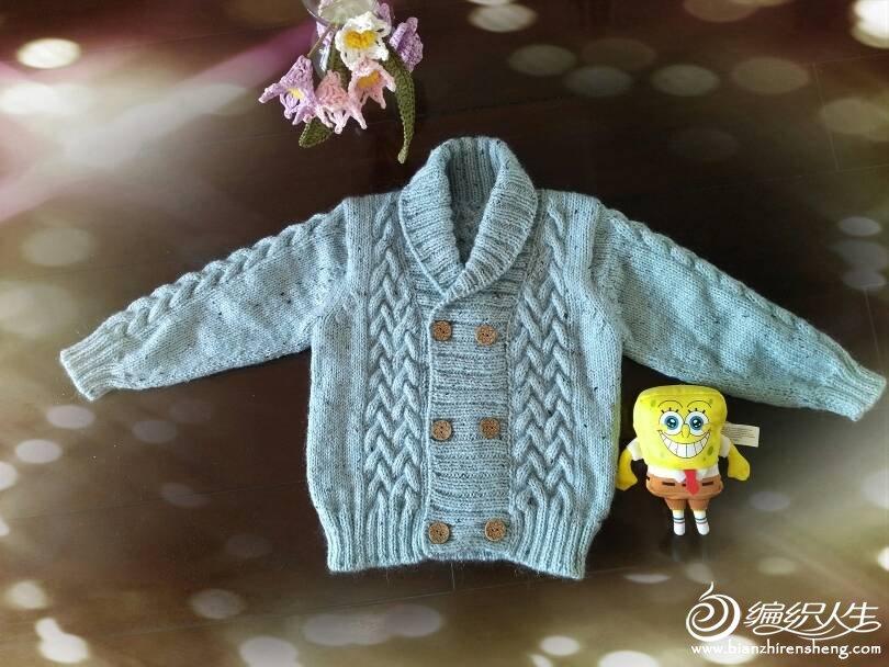 男孩青果领毛衣