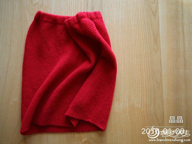 手工编织羊绒裙