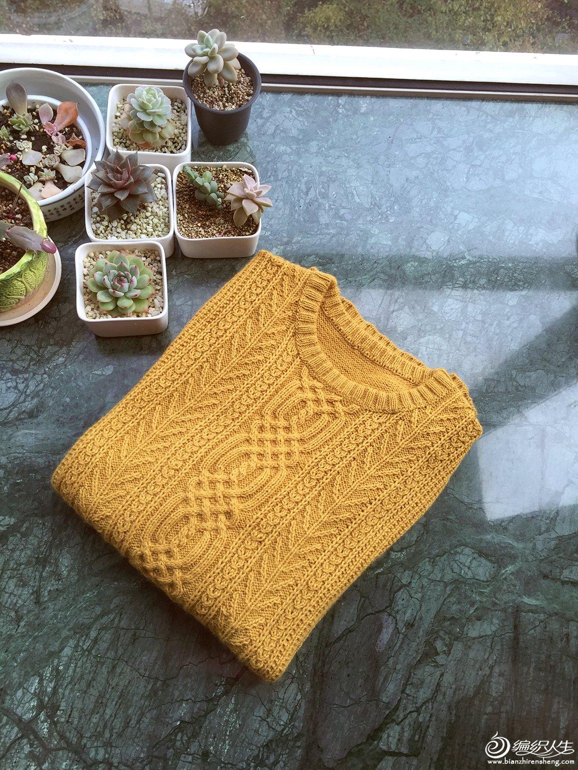 手工编织男款羊绒衫