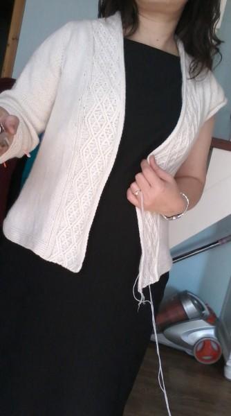 [开衫] ●● 蛋妈手作 ●● 再织美丽门襟,百搭开衫白色(16-6) - yn595959 - yn595959 彦妮