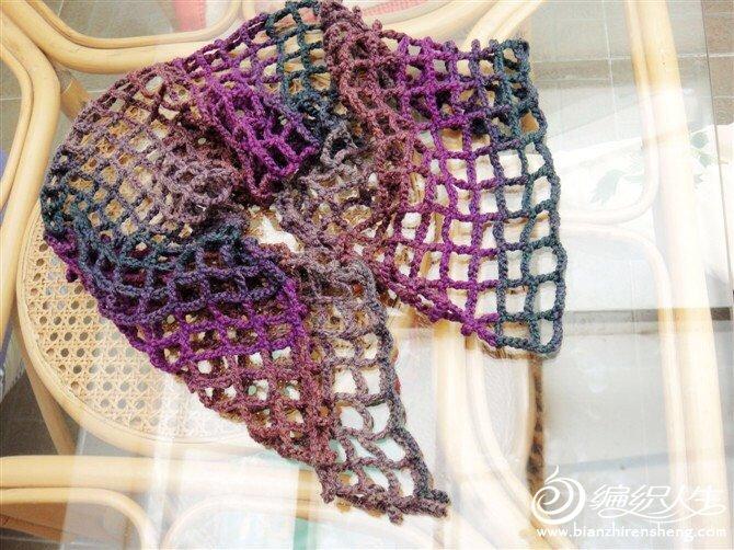 简单钩针围巾